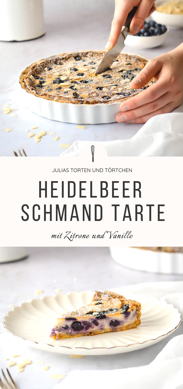 BLUEBERRY SCHMAND TART with lemon and vanilla - Rezepte - Tartes, Quiches süß amp herzhaft -