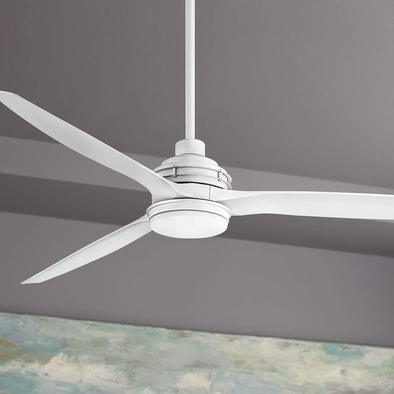 72 hinkley artiste matte white led wet rated ceiling fan 84h48 lamps plus fans amazon bajaj