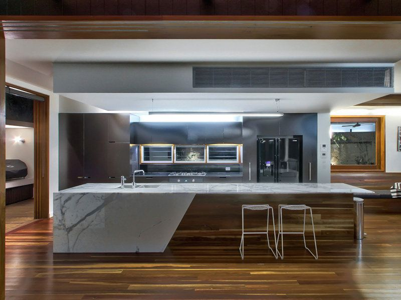 Dream kitchen colours and materials use of timber on for Contemporary kitchen colours