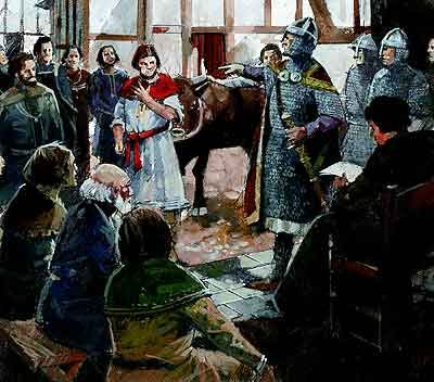 Under French Norman rule a feudal society was imposed on England. In return for land the king could expect quotas of knights from his tenants-in-chief, together w/ monetary aid,'reliefs' (inheritance money)& wardship of minors.No land was w/o a lord & all belonged to the king. Although Englishmen of rank remained in their posts they were  aware they were now the aliens in top society.Norman French became the language of the court until the 15th century, a modified English eventually won the…