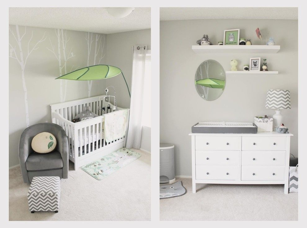 4 in 1 convertible crib spaces modern with baby chevron gray green grey miyazaki nursery small - Baby room ideas small spaces property ...