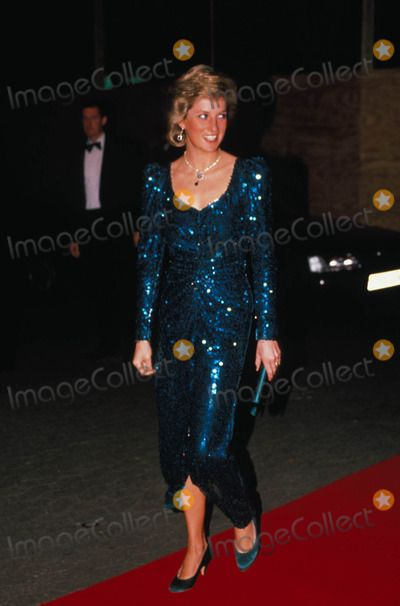 """October 10, 1989:  Princess Diana at the premiere of """"Shirley Valentine""""."""
