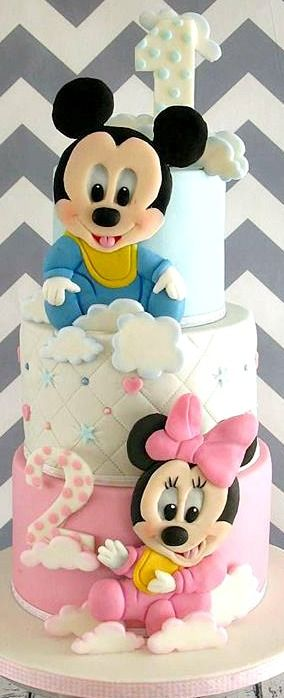mickey and minnie 1st and 2nd birthday cake cake and. Black Bedroom Furniture Sets. Home Design Ideas