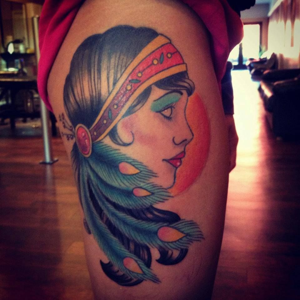 traditional gypsy tattoo by ben delano of new age tattoo