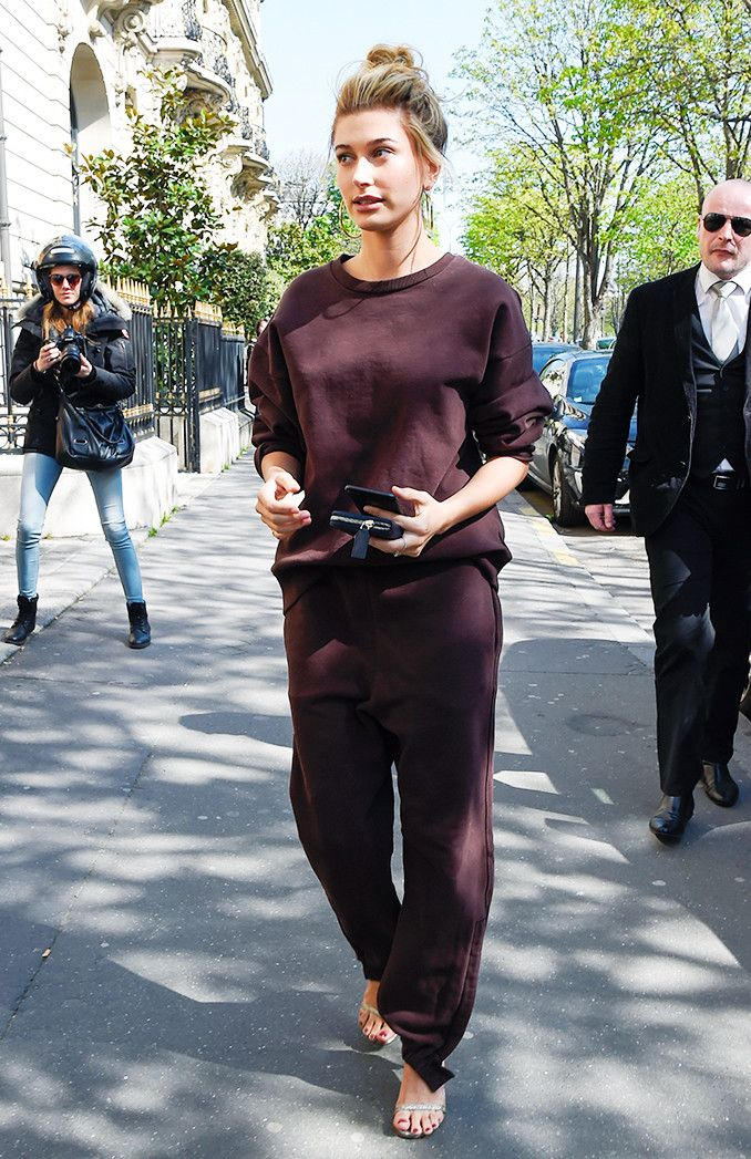 dcb6c23166 Hailey Baldwin wore the outfit American It girls love while shopping in  Paris. Find out how you can re-create her look here.