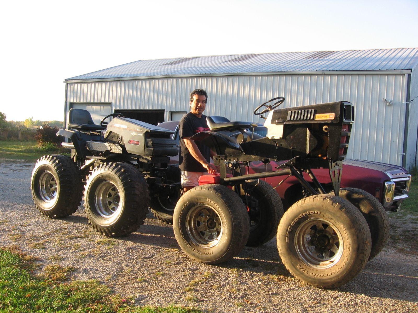 Garden Tractor Custom Truck : Kel s monster mowers w chevy impala xtrememowermayhem