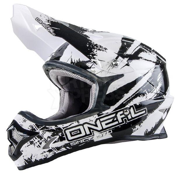 377d205ad6fea 2016 ONeal 3 Series Motocross Helmet - Shocker Black White
