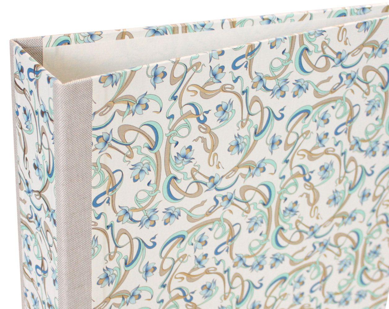 Decorative Folders Ring Folder A4 With Motif Art Nouveau Flowers Blue Mint Storage For Documents Home Office Motif Folder In 2020 Art Nouveau Flowers Art Nouveau Art Nouveau Design