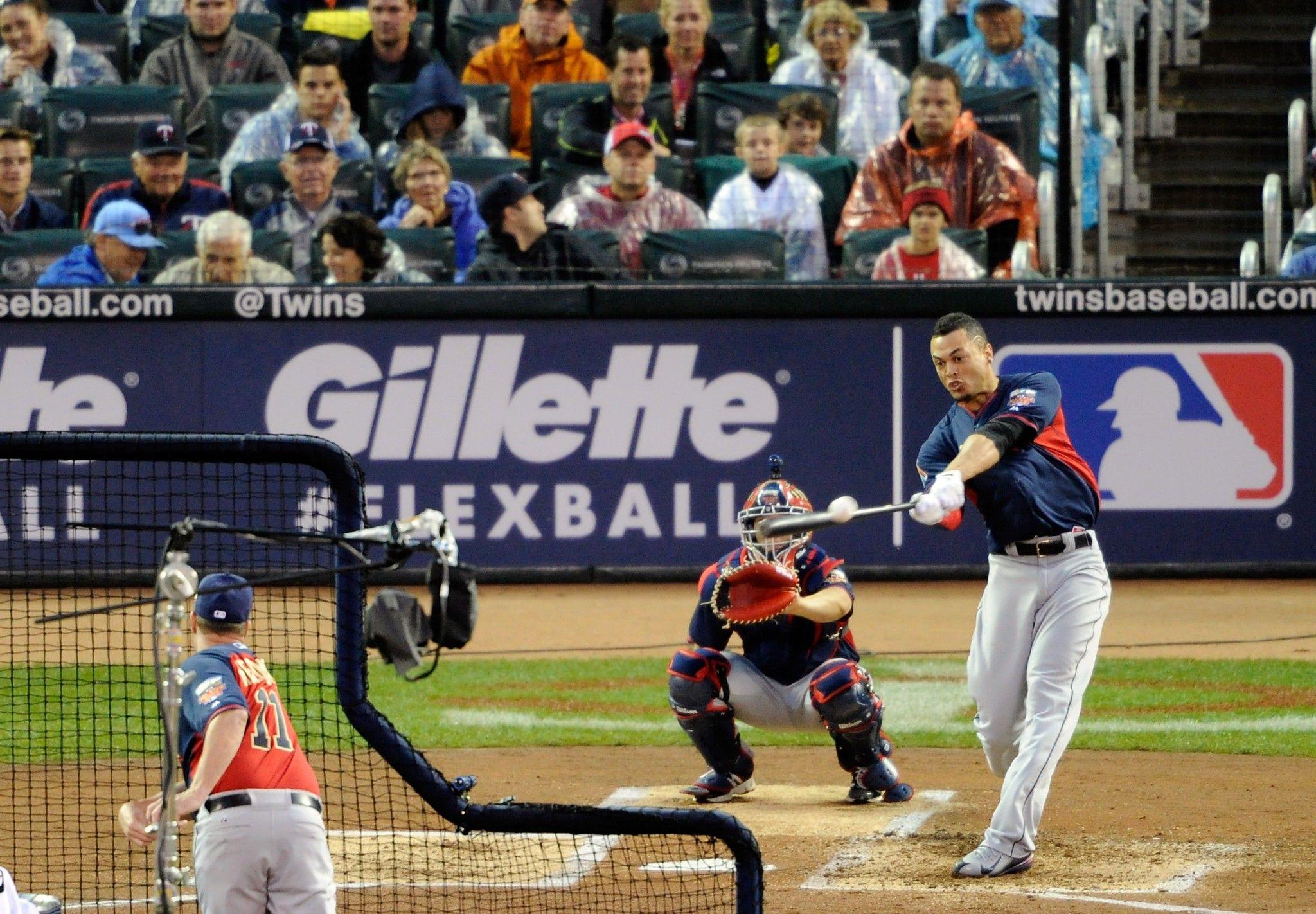 Giancarlo Stanton S Mammoth Home Run Livens Otherwise Listless Home Run Derby Giancarlo Stanton Homerun Stanton