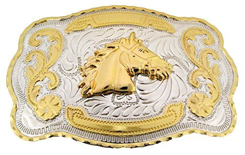 Horse /& Horse Head Rodeo Belt Buckle-For Cowboys-Western Accessories