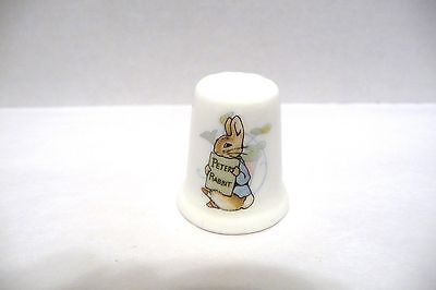 Porcelain China Collectable Thimble Beatrix Potter Childrens Writer