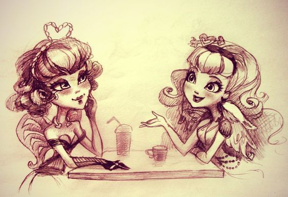 Monster High cupid with Ever After High cupid