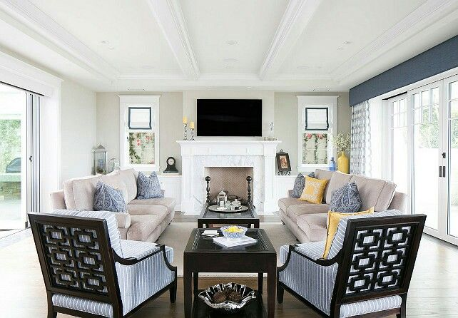 Furniture Arrangement With Glass Slider And Fireplace Give Nicole