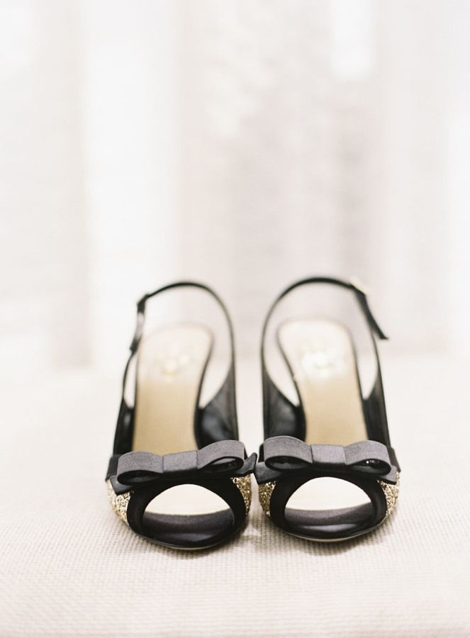 Touch of glam - Black and gold wedding shoes | fabmood.com