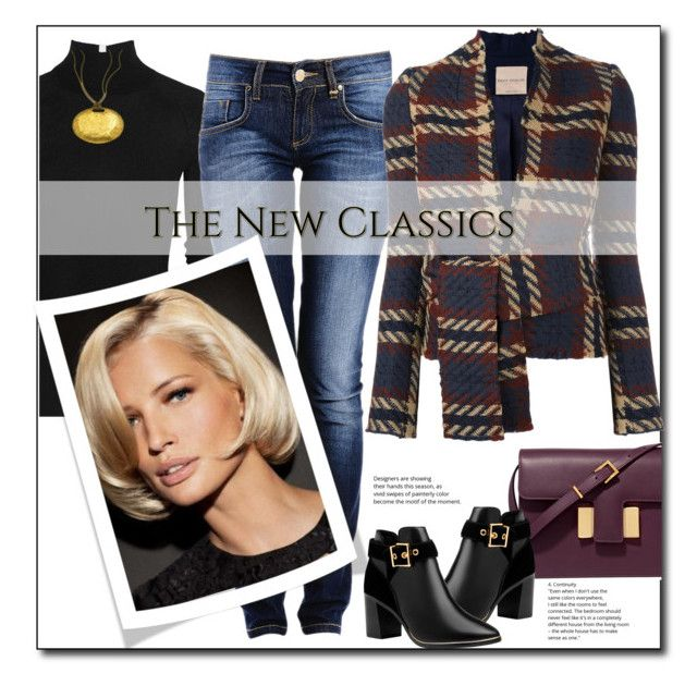 """Plaid jacket and jeans"" by sheryl-lee ❤ liked on Polyvore featuring T By Alexander Wang, Erika Cavallini Semi-Couture, Tom Ford, Ted Baker and Citrine by the Stones"