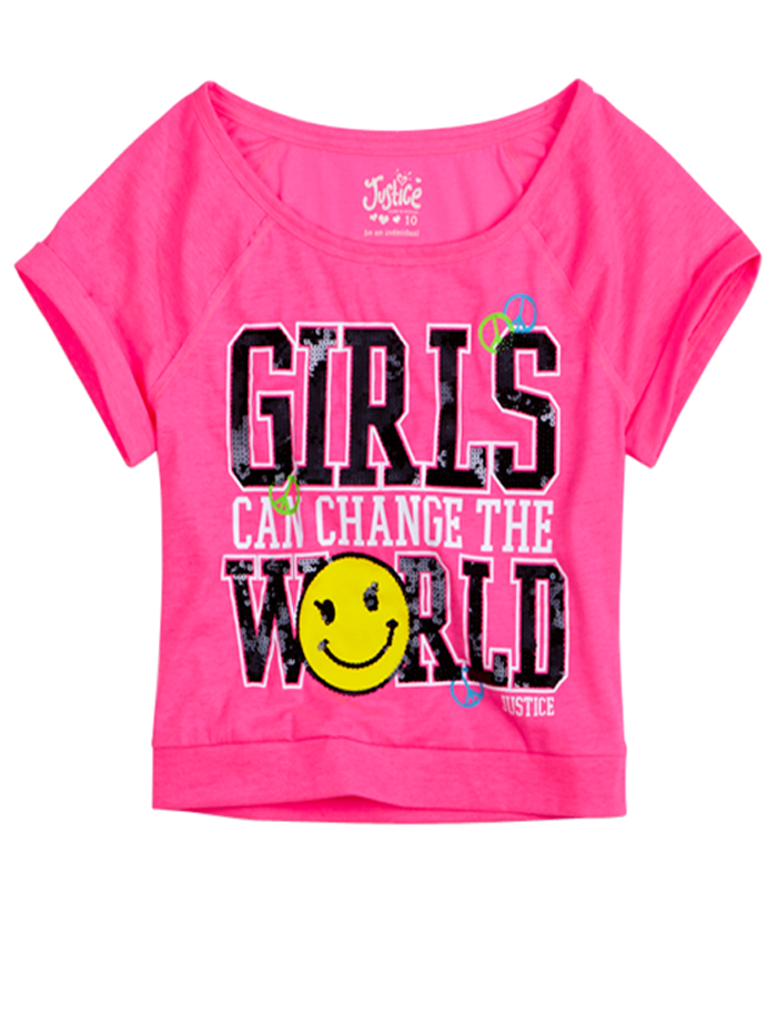 Girls Clothing Short Sleeve Positively You Crop Tee