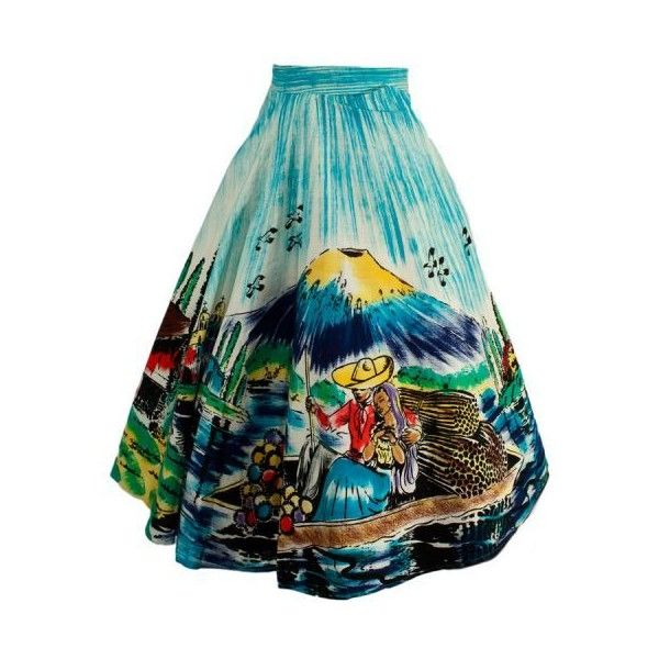 1950s Hand Painted Mexican Circle Skirt (5.260 RUB) ❤ liked on Polyvore featuring skirts, flared skirt, checkered skirt, skater skirt, circle skirt and checkerboard skirt