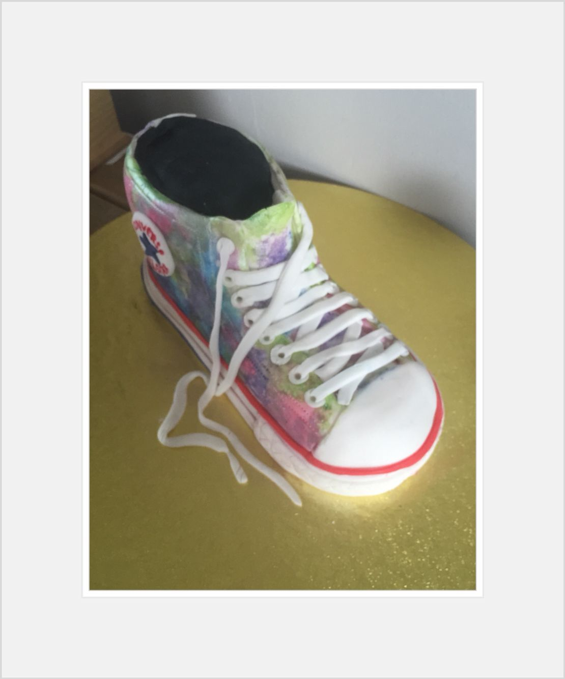 #Converse #Cake #Handpainted for daughters birthday