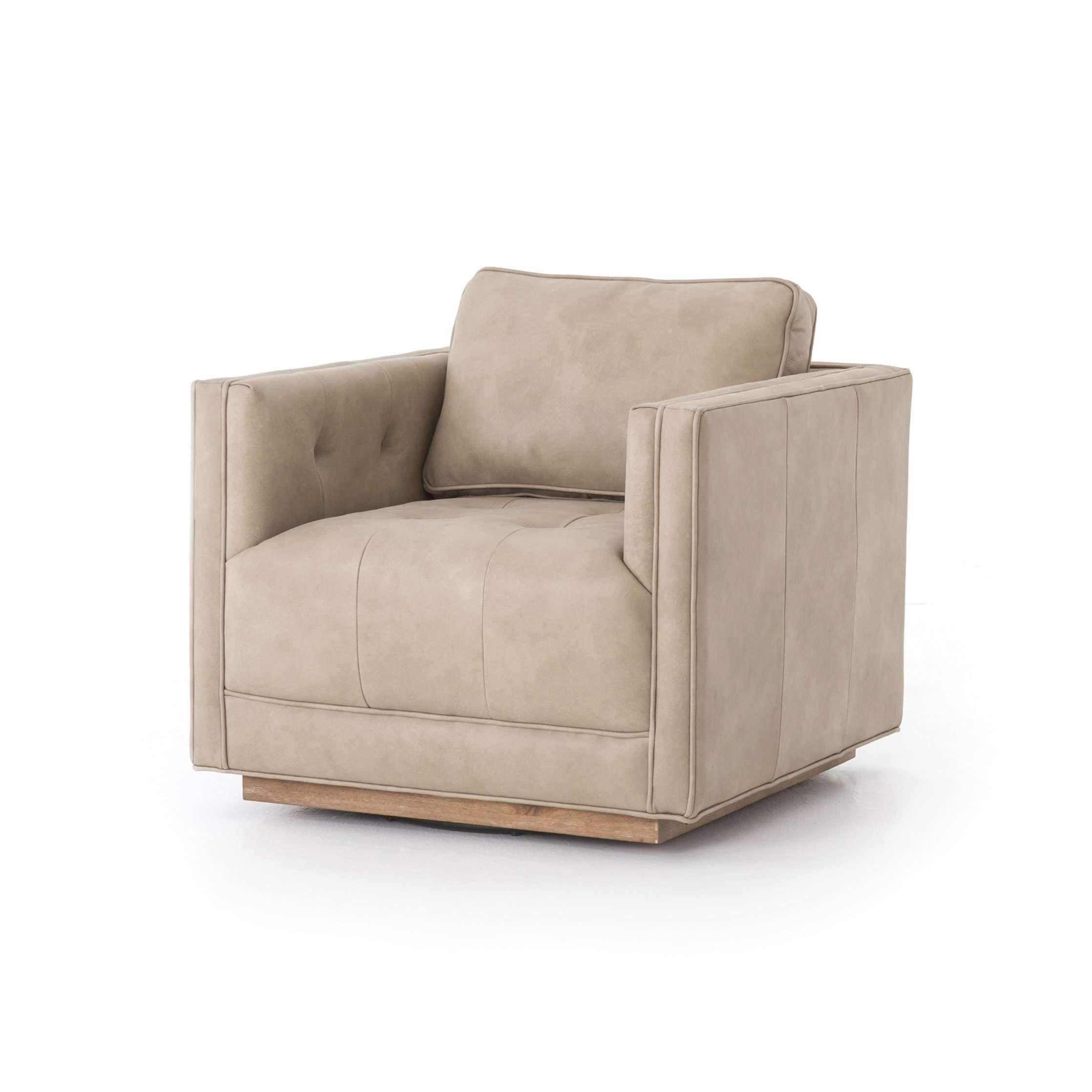 Kiera Leather Swivel Chair Leather swivel chair, Swivel