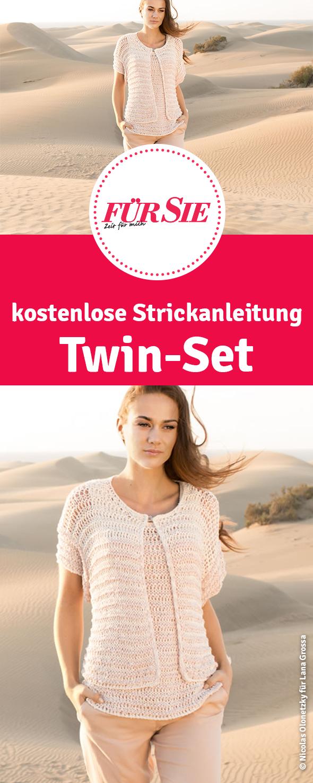Strickanleitung Für Luftig Leichtes Twin Set Pullover Stricken