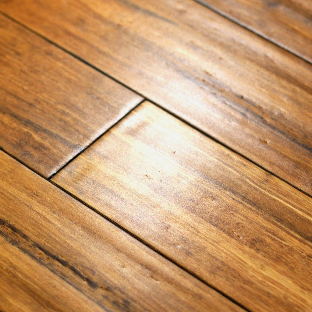 Basement floor, Bamboo Flooring Carbonized patina