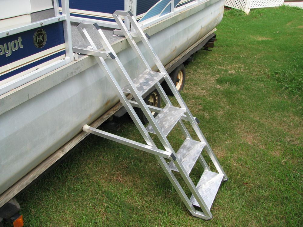 Pontoon Boat Ladder Boat Pinterest Pontoon Boating