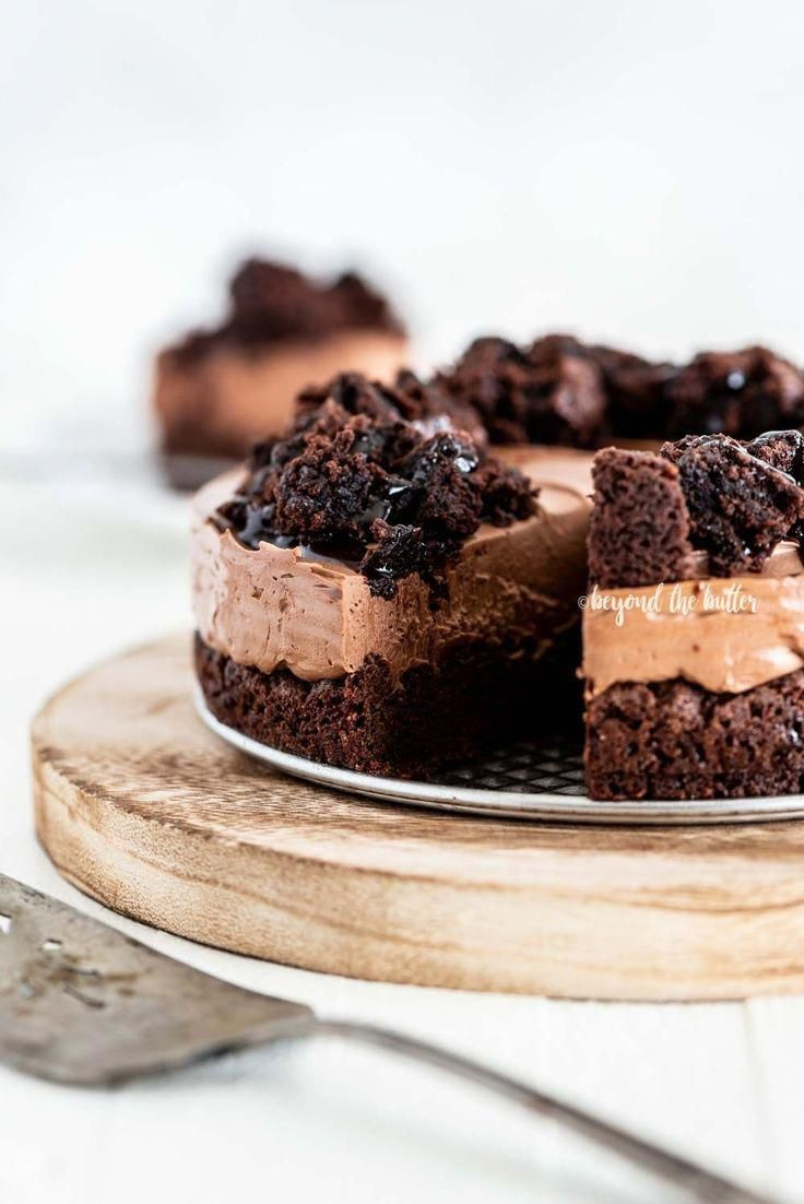 This Chocolate Brownie Cheesecake recipe combines a fudgy brownie bottom with a creamy chocolate ch