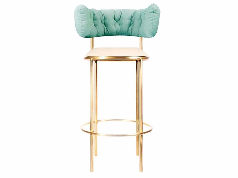 Brass Counter Stool With Footrest West Egg By Moanne Brass Bar Stools Bar Stools Stool
