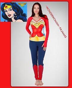 DC Comics~ SEXY PAJAMAS: Wonder Woman Superhero PJs Cleavage ...
