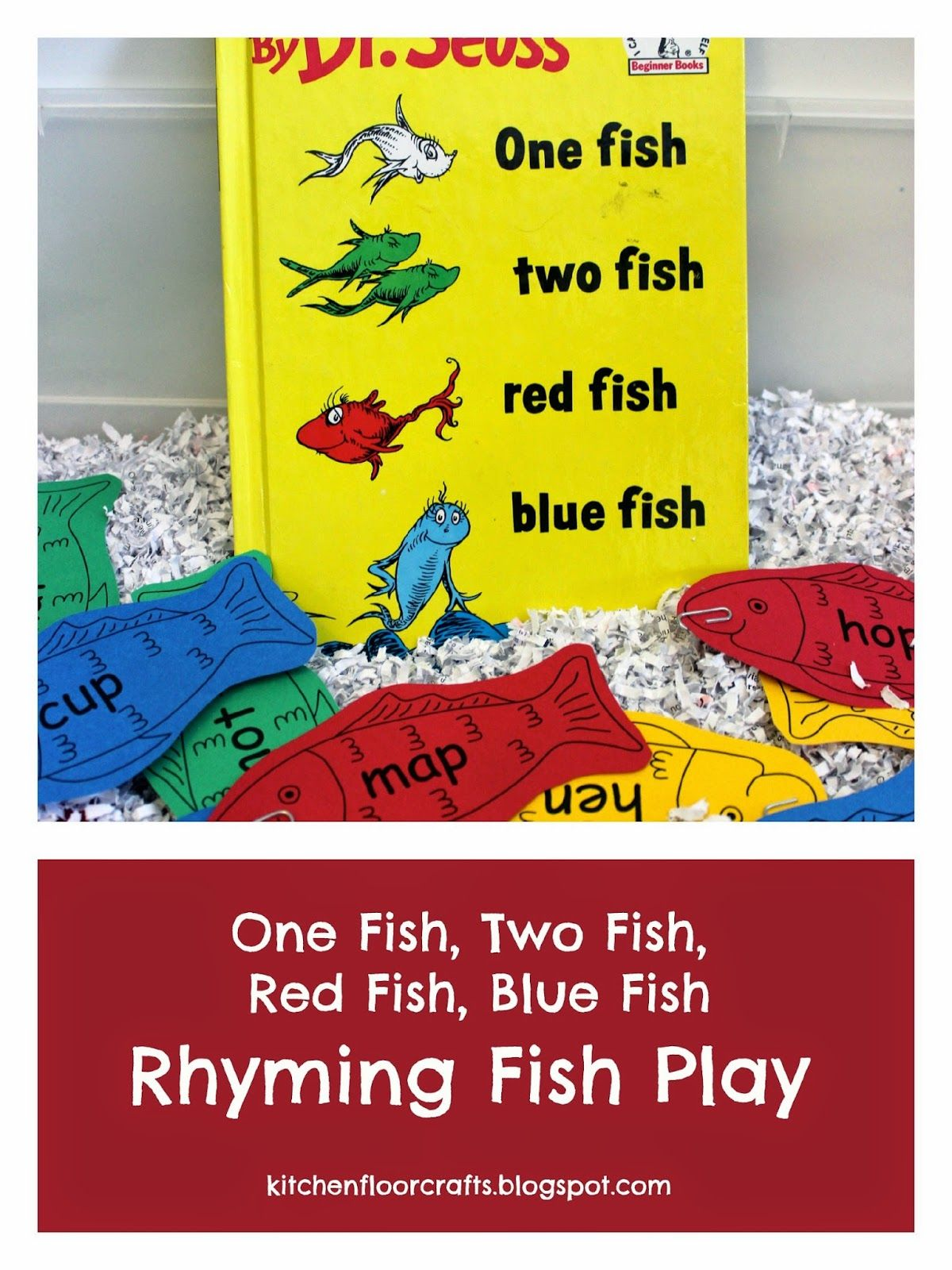 Rhyming Fish Play with Dr. Seuss Fishing cards, Dr seuss