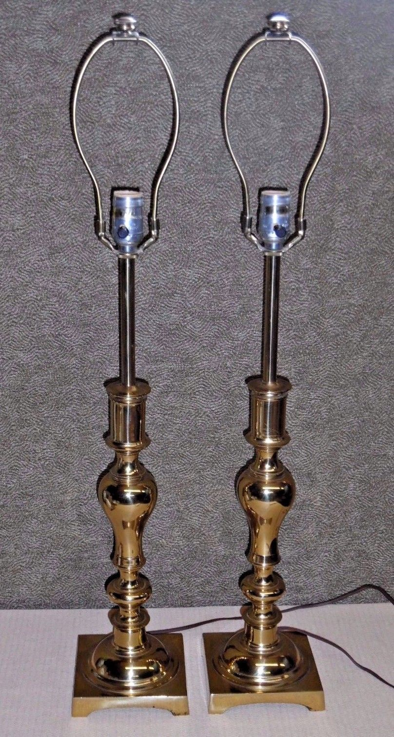 Stiffel Brass Candlestick Table Lamp