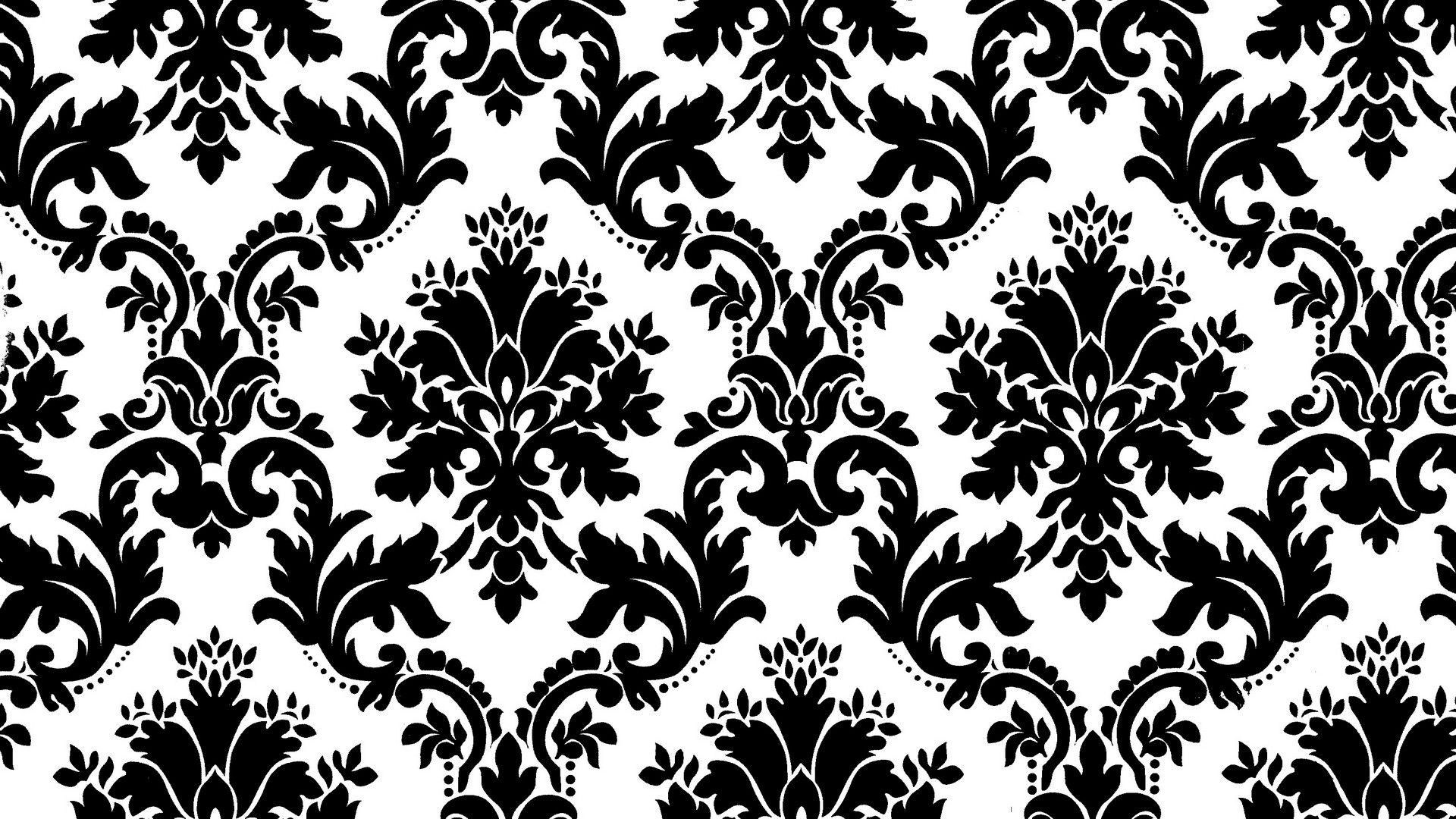 Lovely Black And White Damask Desktop Wallpaper Pattern Wallpaper Wallpaper Damask Wallpaper