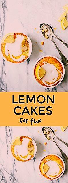 Photo of Lemon Cake for Two in Ramekins   Dessert for Two
