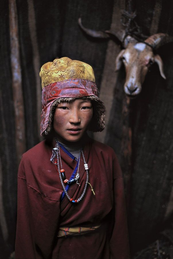 Nomad boy - Tibet by Steve McCurry