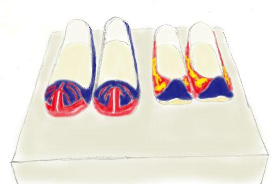 댓돌위에 놓인 신발