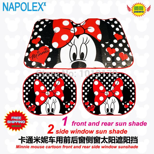 accessories Cartoon minnie mouse front side window sunshade Foils Windshield  Visor Cover UV Protect Car window Film sun shade 8e3e82bb25f