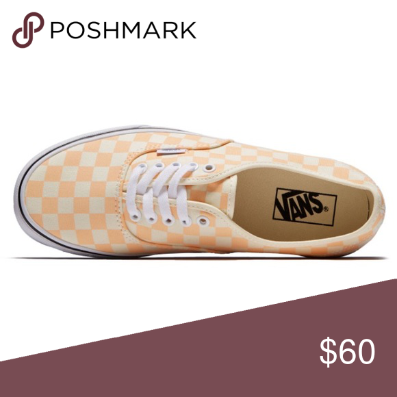 7885aea427 vans original authentic checkerboard apricot ice 1 18 men8 Vans Shoes  Sneakers