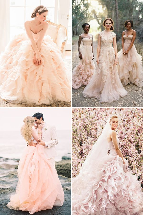 20 Light Colored Wedding Dresses You Will Love