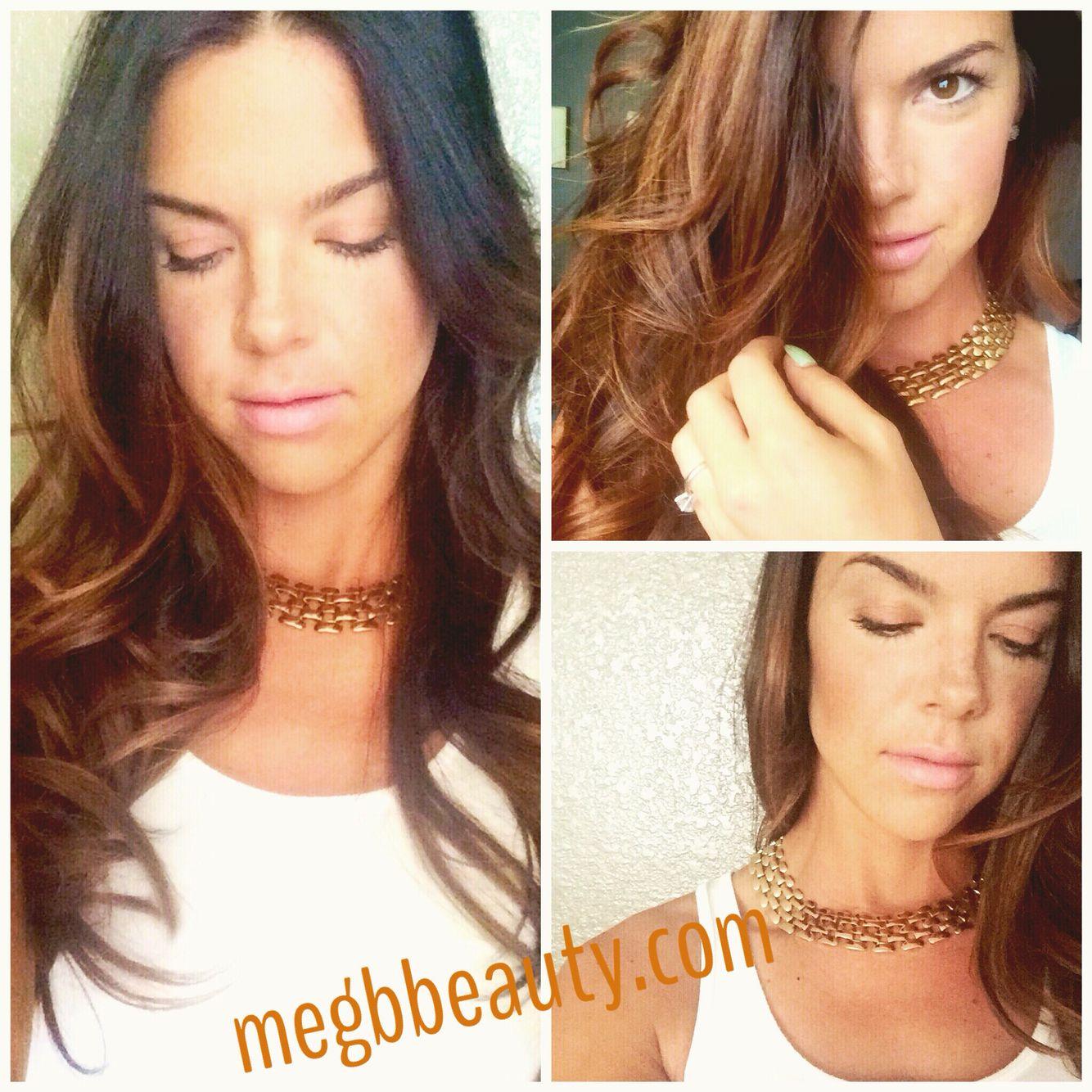Golden Balayage - Long Hairstyles - MAC Lipstick Angel - NARS Dual Intensity Blush @megbbeauty