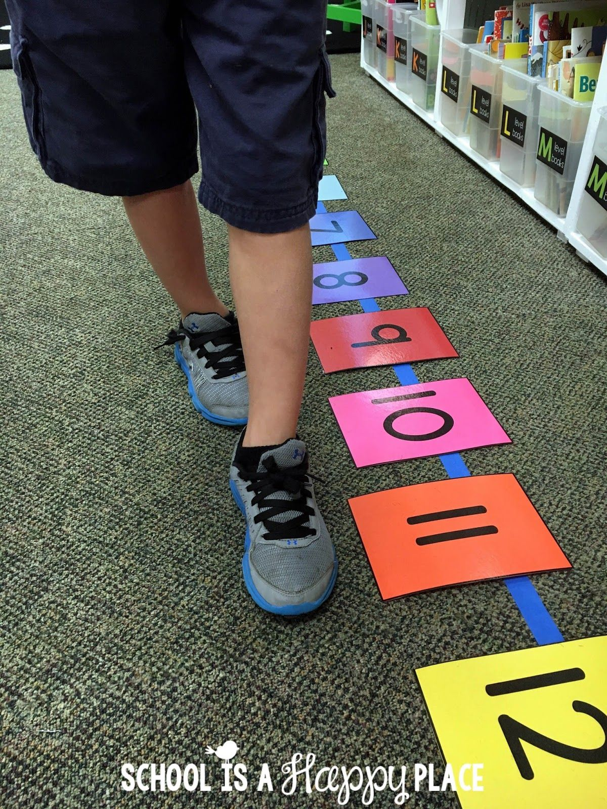 Life Size Number Line Lessons And Freebies Great Ideas