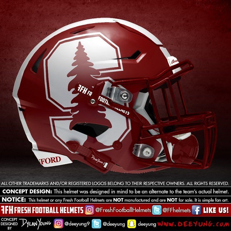 Stanford Cardinal College Design Concept By Deeyung9 Freshfootballhelmets Football Helm Football Helmets Football Helmet Design College Football Helmets