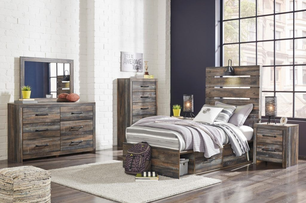 ASHLEY DRYSTAN Twin Size Bedroom Set Storage Bed in 2020