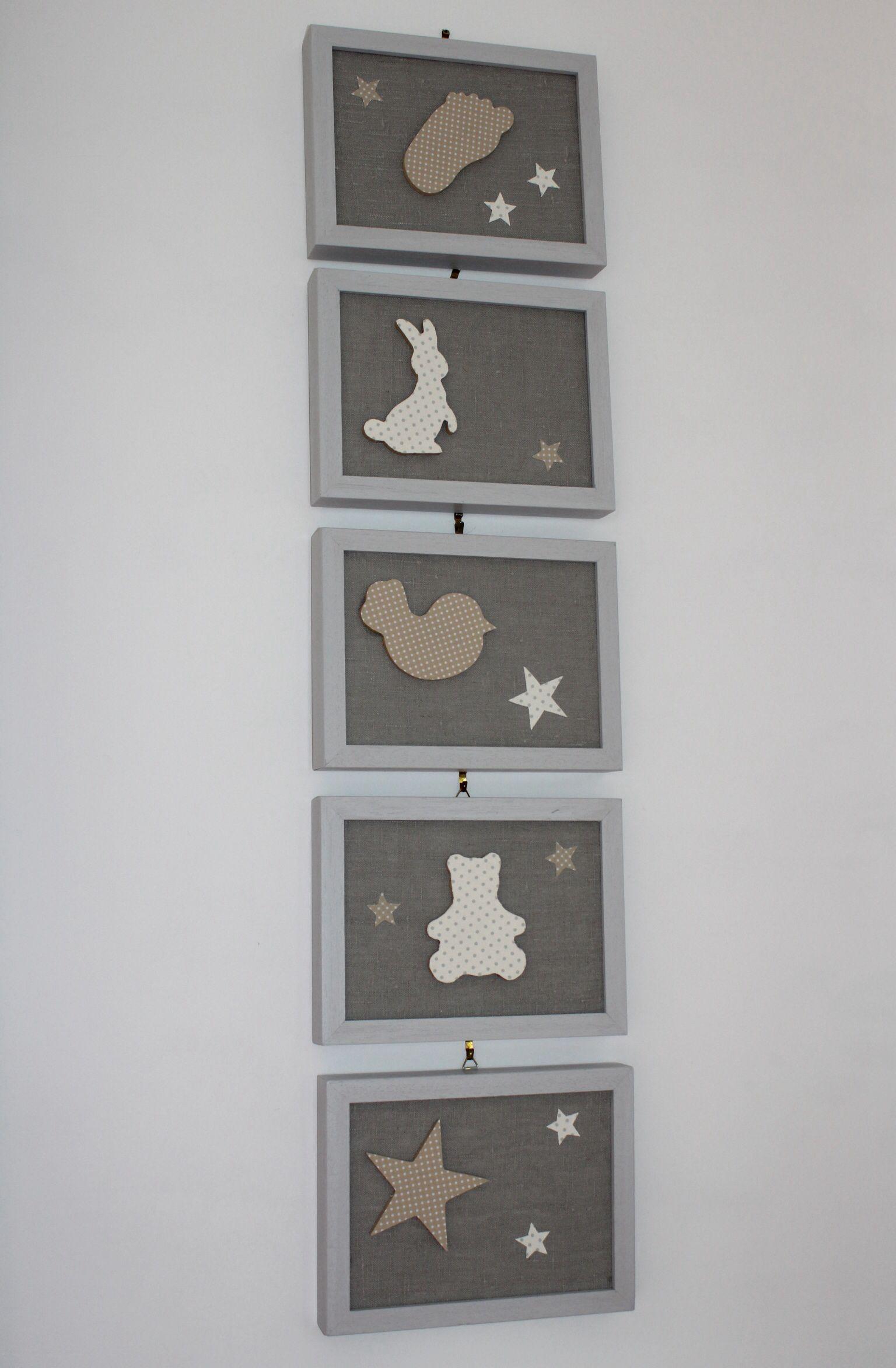 Cadres faits main pour chambre bébé (avec images)  Deco chambre