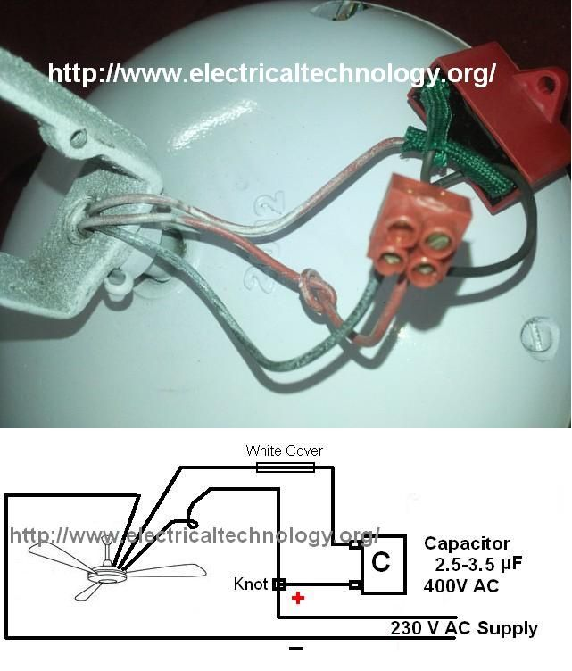 Ceiling Fan Wiring Diagram With Capacitor: How to connect/install a Capacitor with a Ceiling Fan (Part 2 ,Design