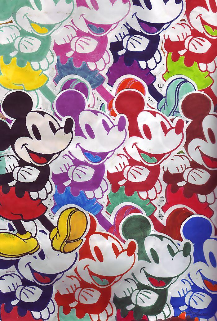 Warhol mickey disney perspectives disney mickey mouse - Mickey mouse retro wallpaper ...