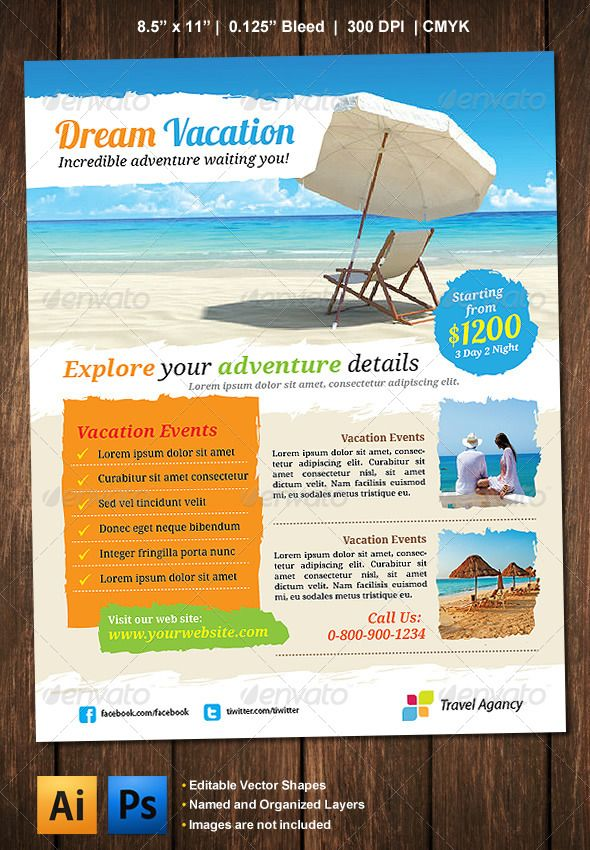 Vacation Flyer | Advertising agency, Fonts download and Promotion