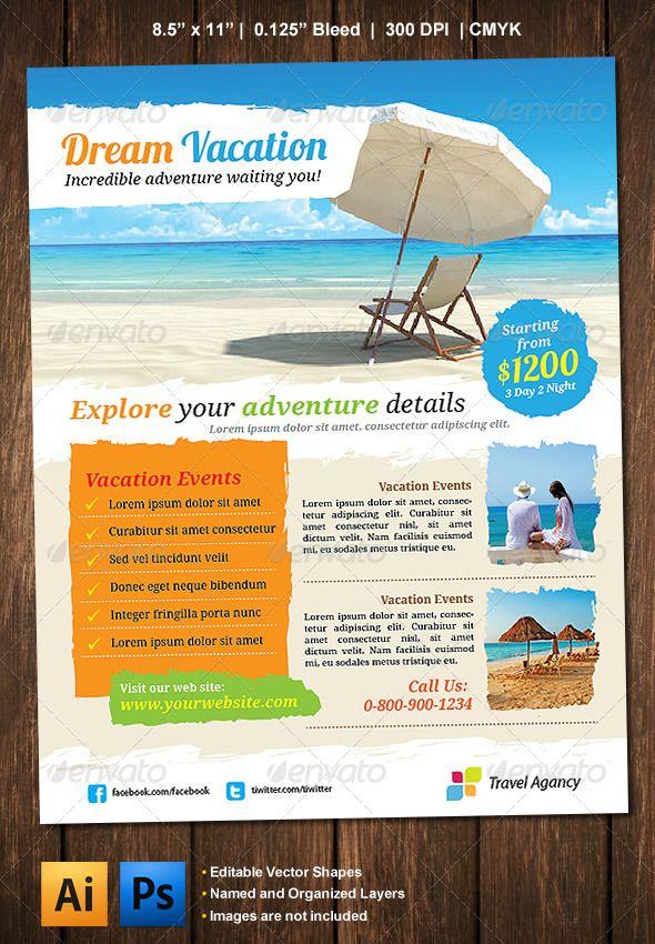Vacation Flyer Hotel Landscape Flyer Travel Design