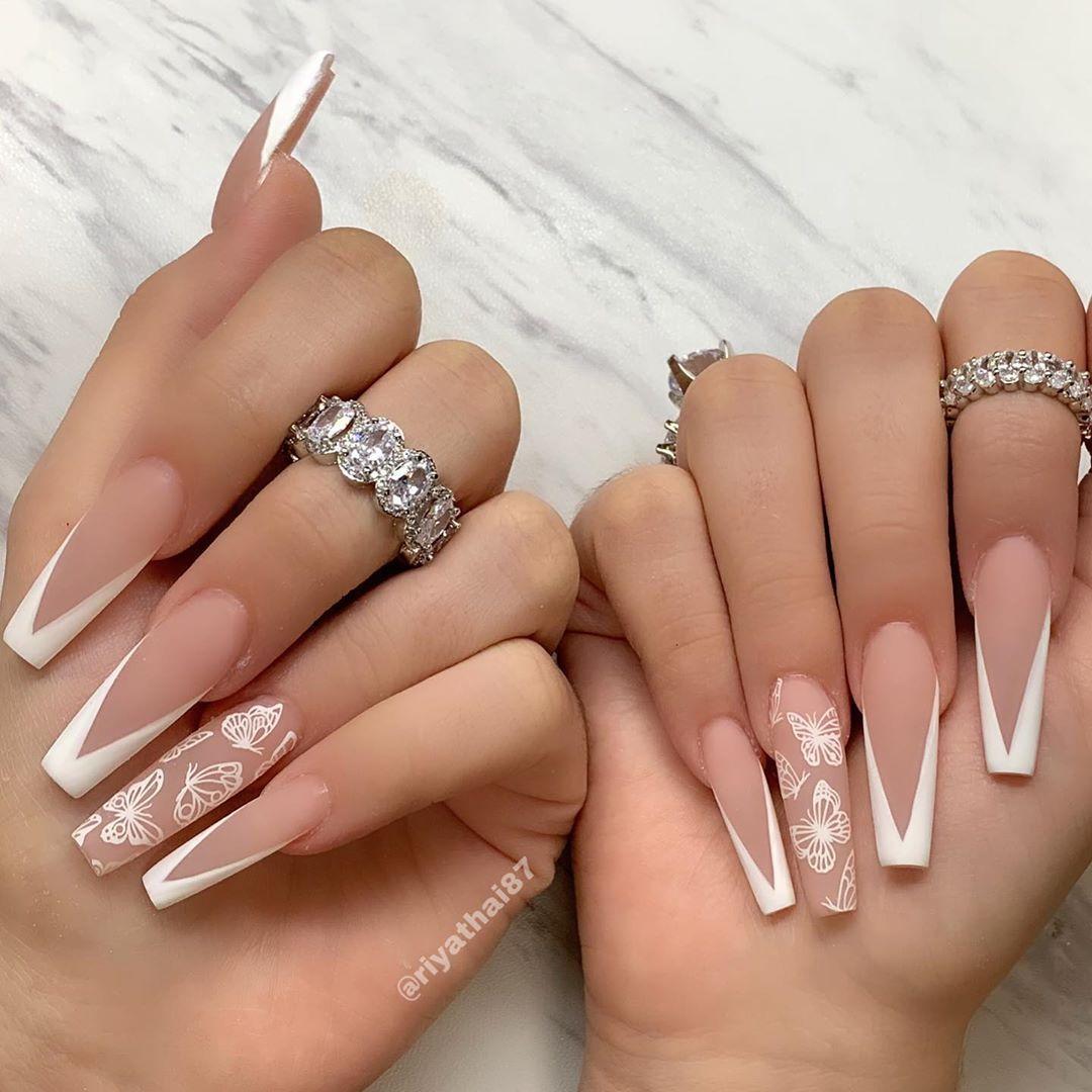 8 240 Me Gusta 50 Comentarios Riya S Nail Salon Riyathai87 En Instagram Simply In 2020 French Tip Acrylic Nails Long Acrylic Nails White Tip Acrylic Nails