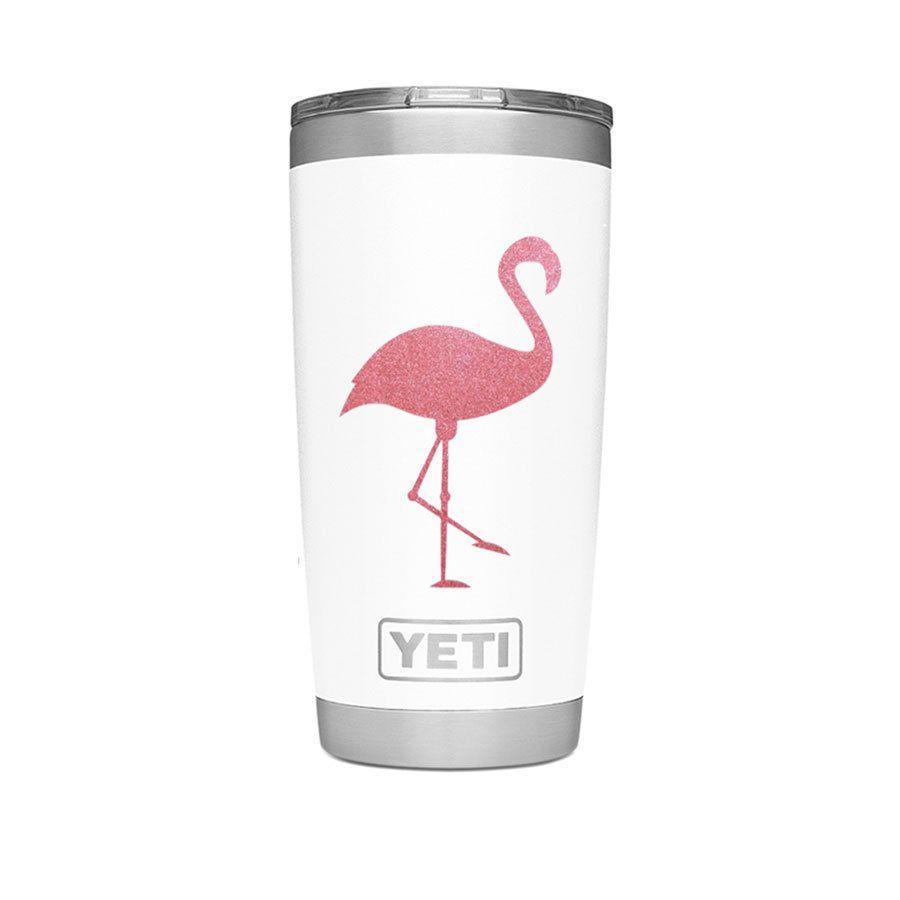 Flamingo Decal Glitter Flamingo Decal Flamingo Sticker Etsy Flamingo Decal Yeti Decals Yeti Cup Designs [ 900 x 900 Pixel ]