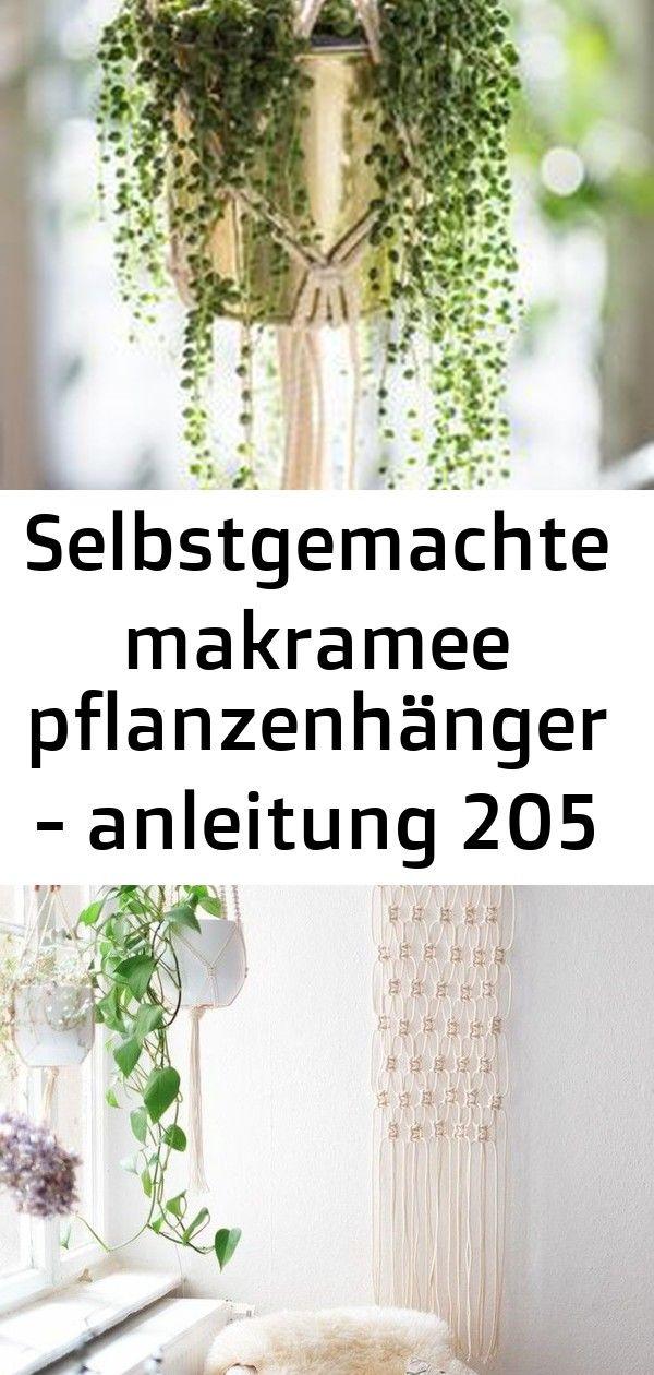 Selbstgemachte makramee pflanzenhänger - anleitung 205 #wanddekoselbermachen